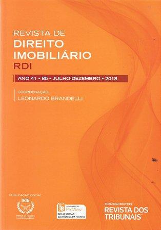 Revista de Direito Imobiliário - RDI - Edição nº 85 - Ed. Thomson Reuters/RT - em parceria com o IRIB