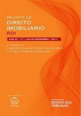 Revista de Direito Imobiliário - RDI - Edição nº 75 - Ed. Thomson Reuters/RT - em parceria com o IRIB
