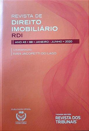 Revista de Direito Imobiliário - RDI - Edição nº 88 - Ed. Thomson Reuters/RT - em parceria com o IRIB
