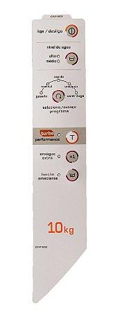 Painel Decorativo Compatível Lavadora Brastemp Turbo Bwc10 (Direito)