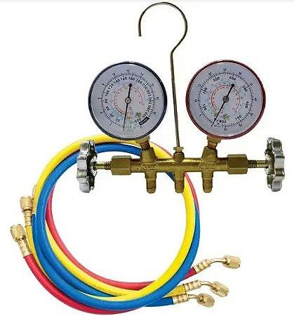 Manifold Gitta 636-410 R410 / R12 / R22 / R407 Mangueira 90cm