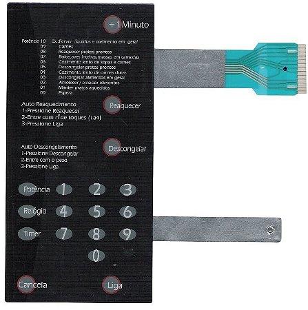 Membrana Compatível Microondas Brastemp Bmp31 Preta Sem Dourador