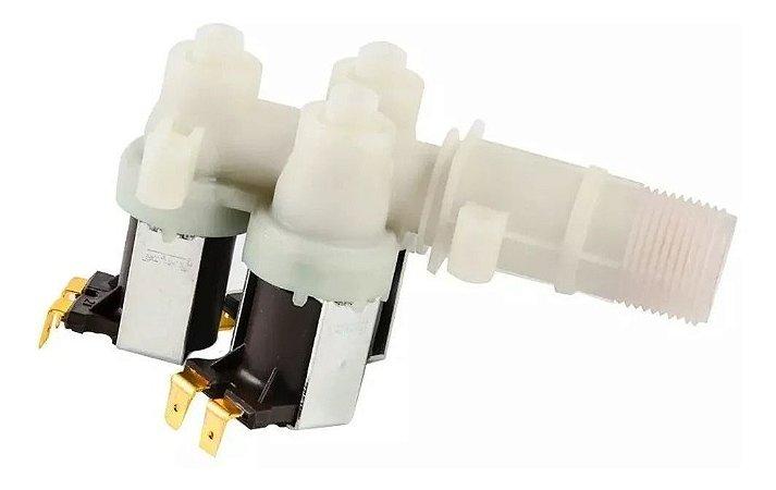 Válvula Entrada Tripla Compatível Lavadora Brastemp Bwl11 Bwt09 Bwm06 220V