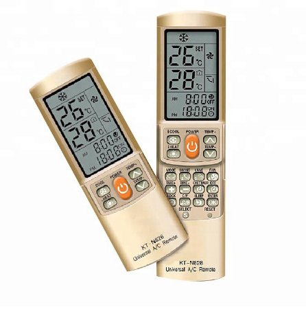 Controle Ar Condicionado Universal Dourado Kt-n828