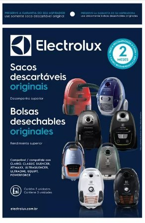 Saco Descartavel Aspirador Electrolux Clario, Classic Silencer, Jetmaxx, Ultrasilencer, Ultraone, Equipt e Powerforce (s