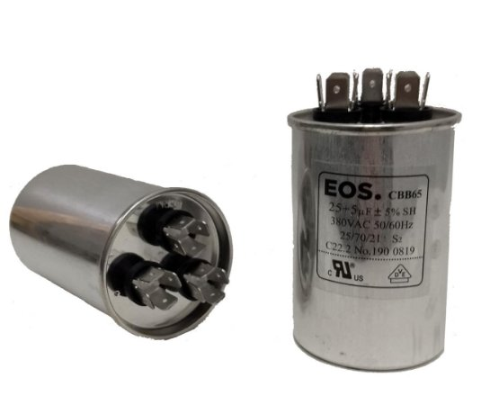 Capacitor 25 + 5 Uf 380V Copo Aluminio