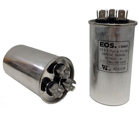 Capacitor 35+1.5 Uf 380V Copo Aluminio