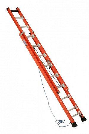 Escada Fibra 19 Degraus Extensiva 3,65 A 6 Metros Cogumelo