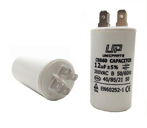 Capacitor 12 Uf 380V Plastico Com Terminal