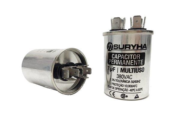 Capacitor 7 Uf 380V Copo Aluminio Suryha