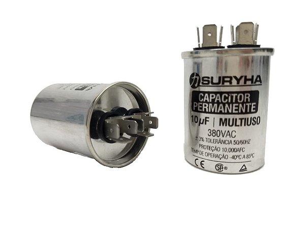 Capacitor 10 Uf 380V Copo Aluminio Suryha