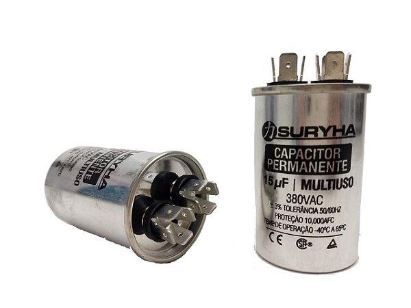 Capacitor 15 Uf 380V Copo Aluminio Suryha