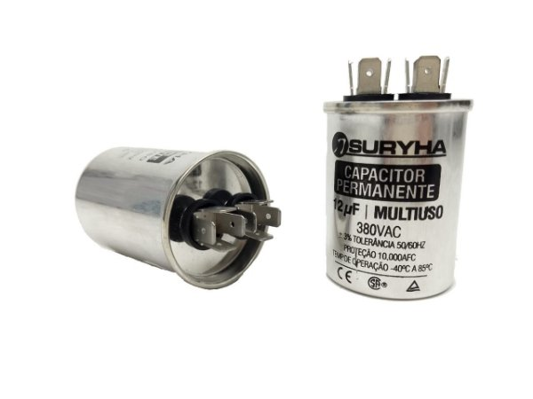 Capacitor 12 Uf 380V Copo Aluminio Suryha