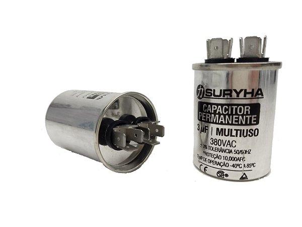 Capacitor 3 Uf 380v Copo Aluminio Suryha