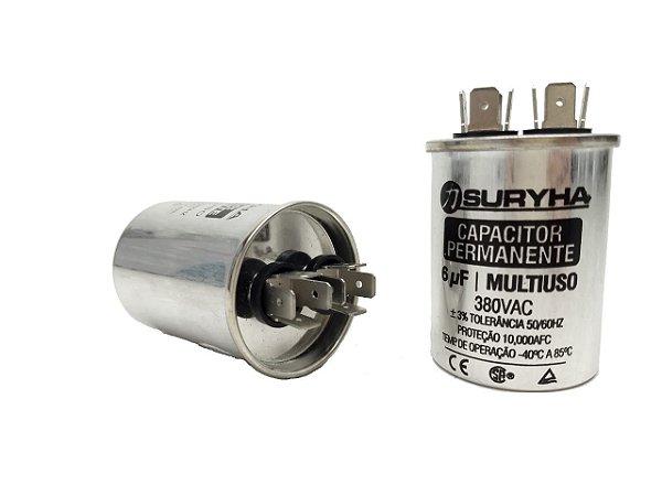 Capacitor 6 Uf 380V Copo Aluminio Suryha