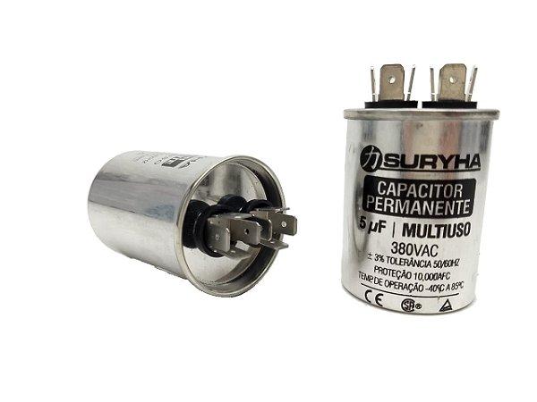 Capacitor 5 Uf 380V Copo Aluminio Suryha