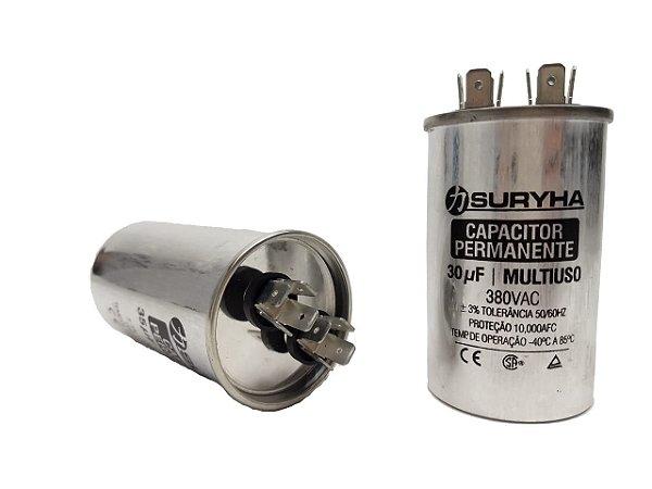 Capacitor 30 Uf 380V Copo Aluminio Suryha