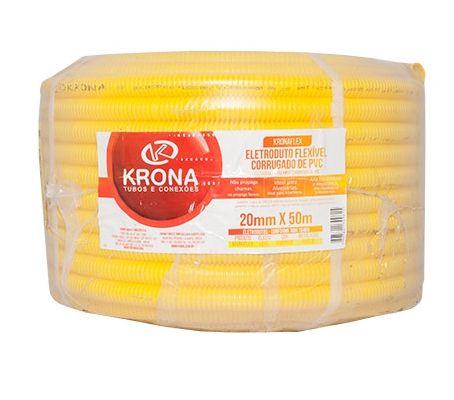 Mangueira Corrugada 20Mm 1/2 Amarelo Krona 1 Metro