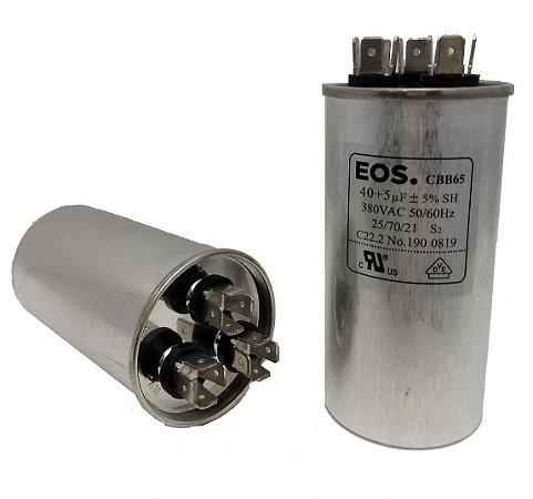 Capacitor 40+5 Uf 380V Copo Aluminio