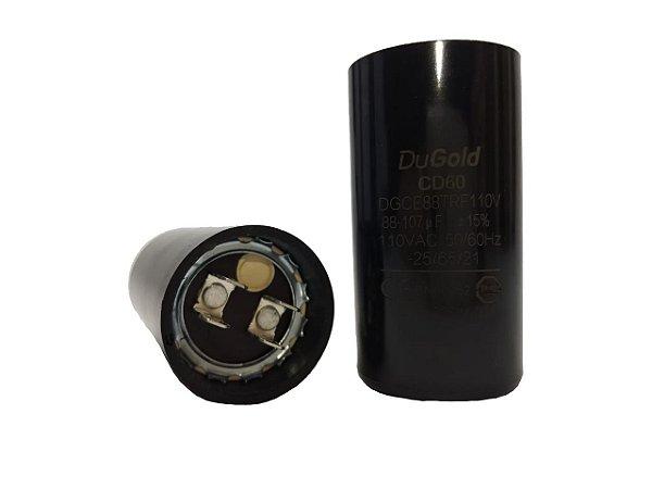 Capacitor Eletrolítico 88/107 Uf 110V