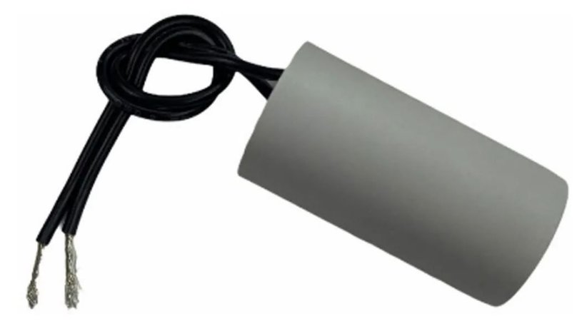 Capacitor 10 Uf 250V Copo Plastico Com Fio