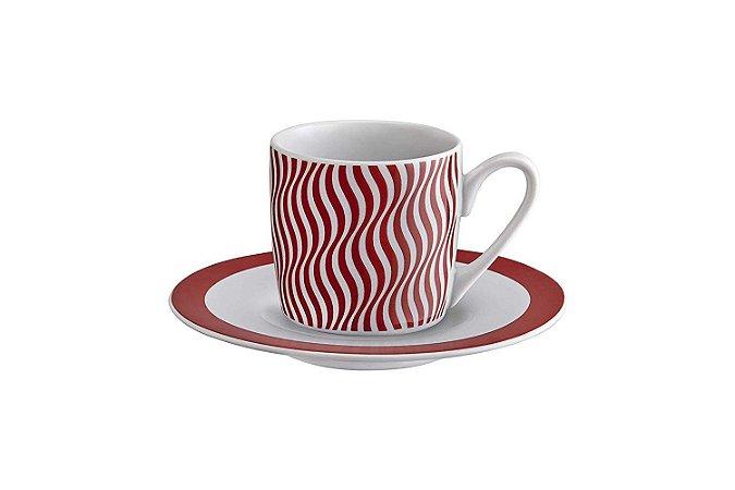 Jogo de xícaras de café - 12 Pçs