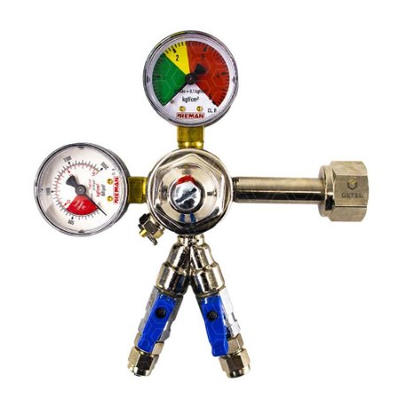 Regulador de Pressão CO2 (Reman - 2 Saídas) - Válvula Esfera