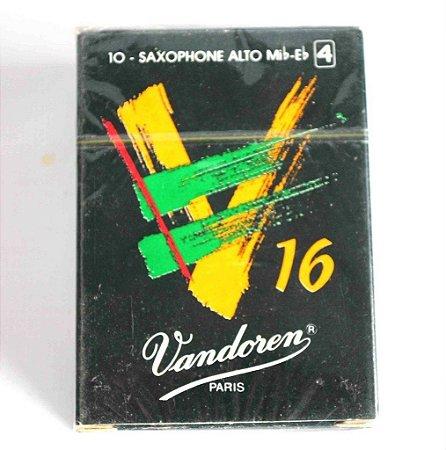 Palheta Vandoren Sax Alto V16 Sr704 N°4 Caixa 10 Unidades
