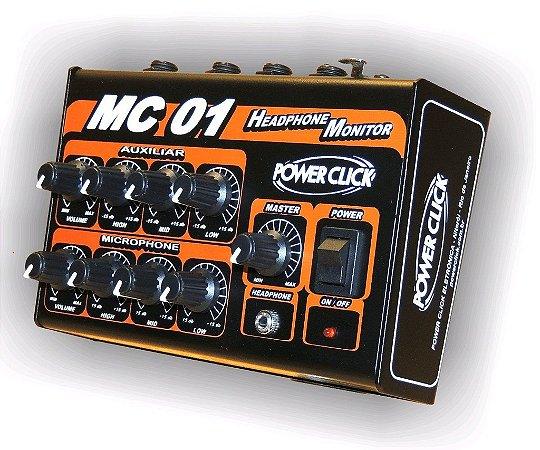 Amplificador Headphone Vocal Power Click Mc 01 Com Fonte