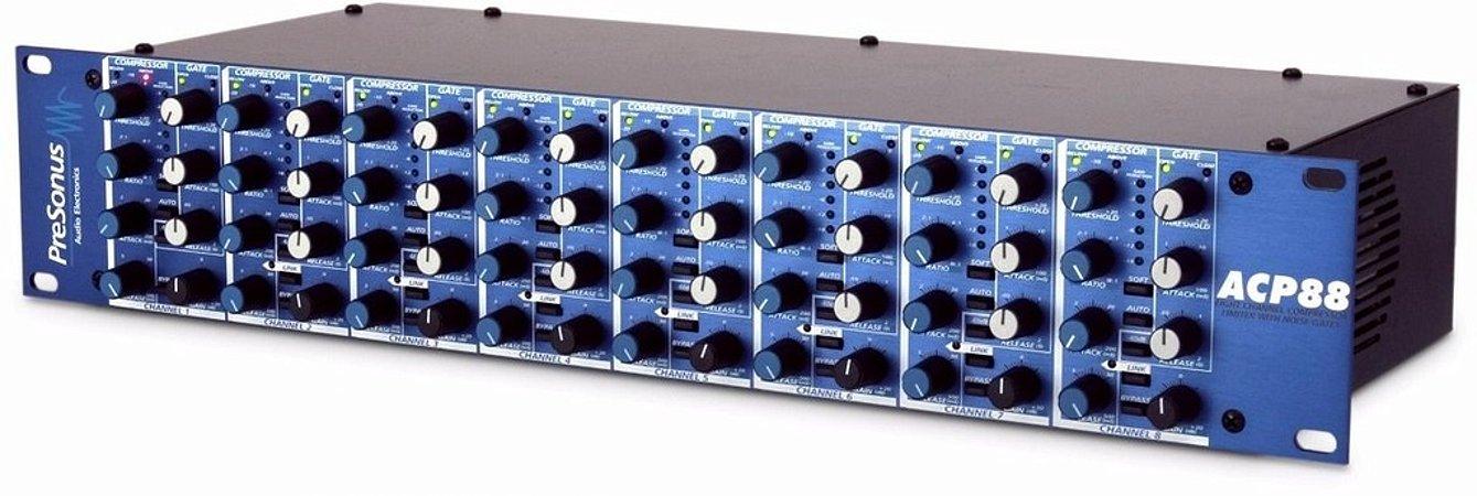 Presonus Acp88 Limitador/ Compressor De 8 Canais Com Gate