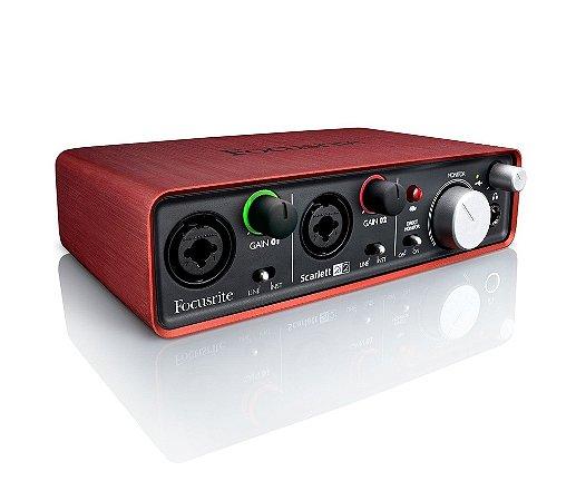 Focusrite Scarlett 2i2 Interface De Áudio Usb 24-bit