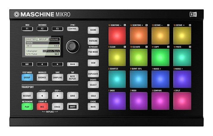 Native Instruments Maschine Mikro Mk2 Preto
