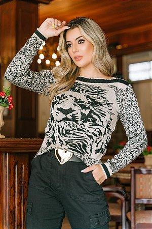 Blusa de Trico Jacar Leão