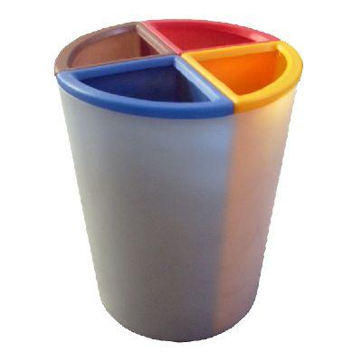 Lixeira MIX 50 litros com 4 divisões