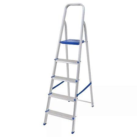 Escada em alumínio 5 degraus