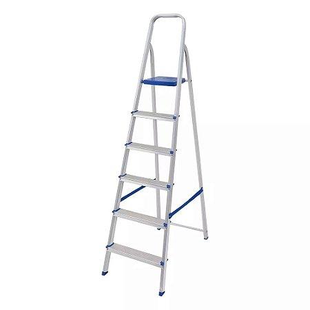 Escada em alumínio 6 degraus