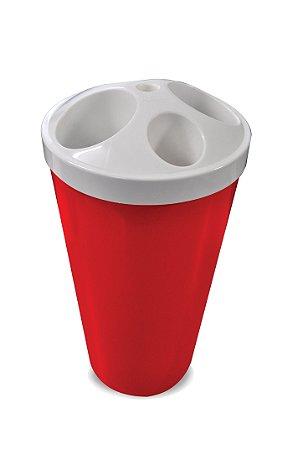Lixeira para copos descartáveis 4 tubos água/café
