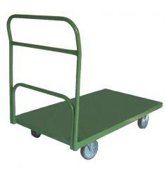 Carro plataforma lastro em chapa com 1 aba 0,60x1,00m com rodízios