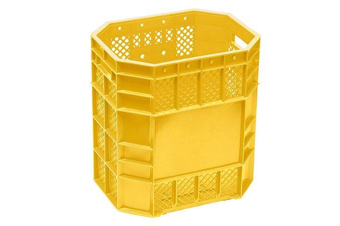 Caixa Plástica Vazada 70 Litros Amarela - PN70
