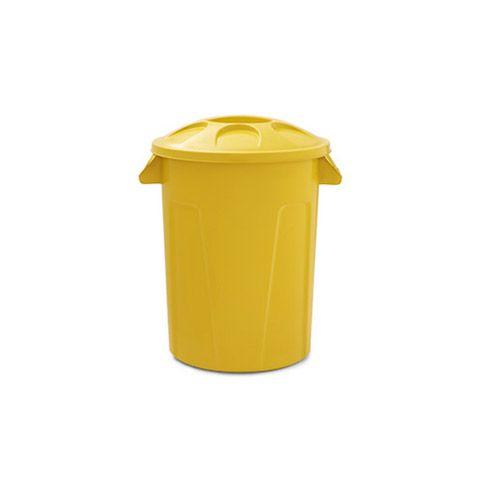 Cesto para lixo 60 litros com tampa Amarelo