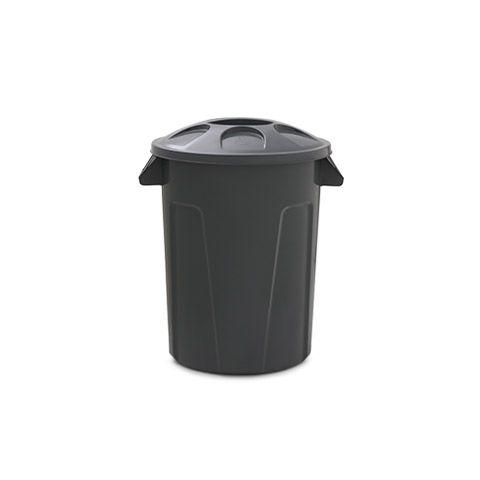 Cesto para lixo 60 litros com tampa Cinza