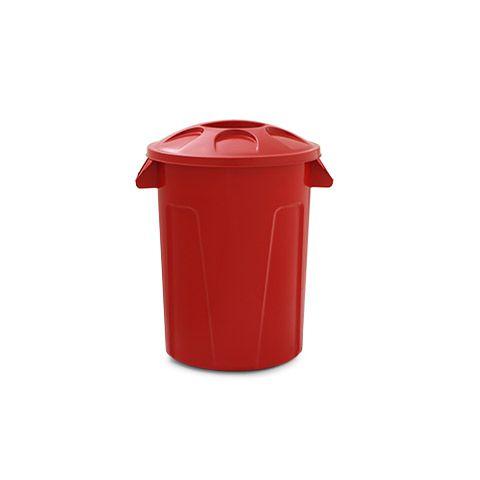 Cesto para lixo 60 litros com tampa Vermelho