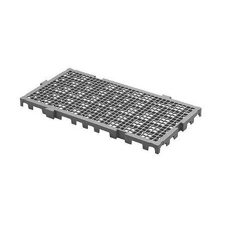 Estrado plástico 50x25x2,5cm Cinza