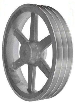 Polia de alumínio 3 canais B - 230 mm