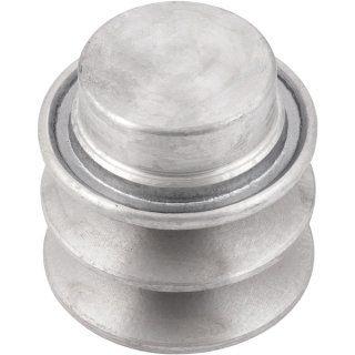 Polia de alumínio 2 canais B - 50 mm - Mademil