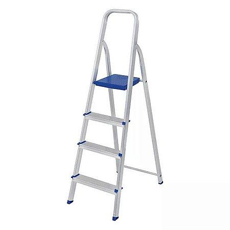 Escada em alumínio 4 degraus - MOR