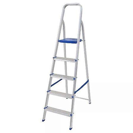 Escada em alumínio 5 degraus - MOR