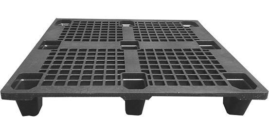 Pallet plástico vazado 1,00 x 1,20m Eco Preto