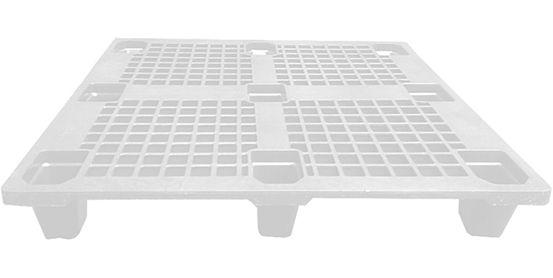 Pallet plástico vazado 1,00 x 1,20m Eco Branco