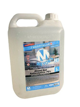 Álcool Gel Antisséptico para Mãos 70% INPM 5 litros Meyors